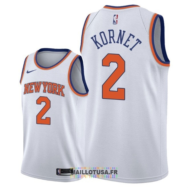 Maillot NBA Nike New York Knicks NO.2 Luke Kornet Blanc Association 2018