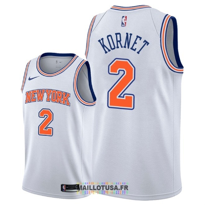 Maillot NBA Nike New York Knicks NO.2 Luke Kornet Blanc Statement 2018