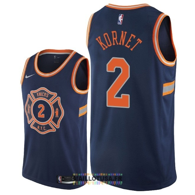 Maillot NBA Nike New York Knicks NO.2 Luke Kornet Nike Marine Ville 2018