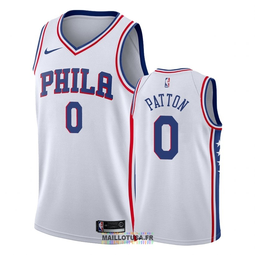 Maillot NBA Nike Philadelphia Sixers NO.0 Justin Patton Blanc Association 2018