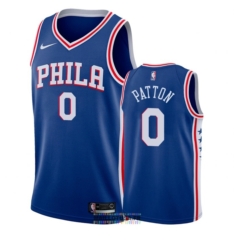 Maillot NBA Nike Philadelphia Sixers NO.0 Justin Patton Bleu Icon 2018