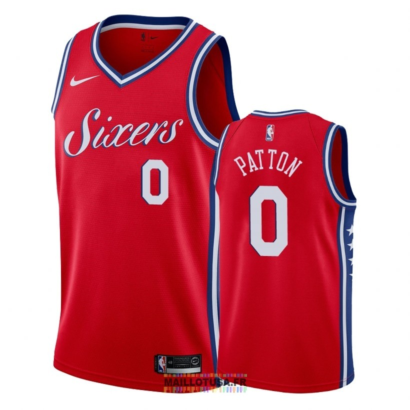 Maillot NBA Nike Philadelphia Sixers NO.0 Justin Patton Rouge Statement 2018