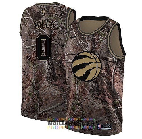 Maillot NBA Toronto Raptors NO.0 C.J. Miles Camo Swingman Collection Realtree 2018