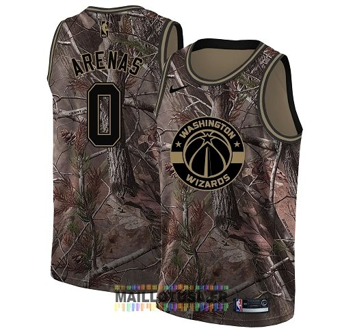 Maillot NBA Washington Wizards NO.0 Gilbert Arenas Camo Swingman Collection Realtree 2018
