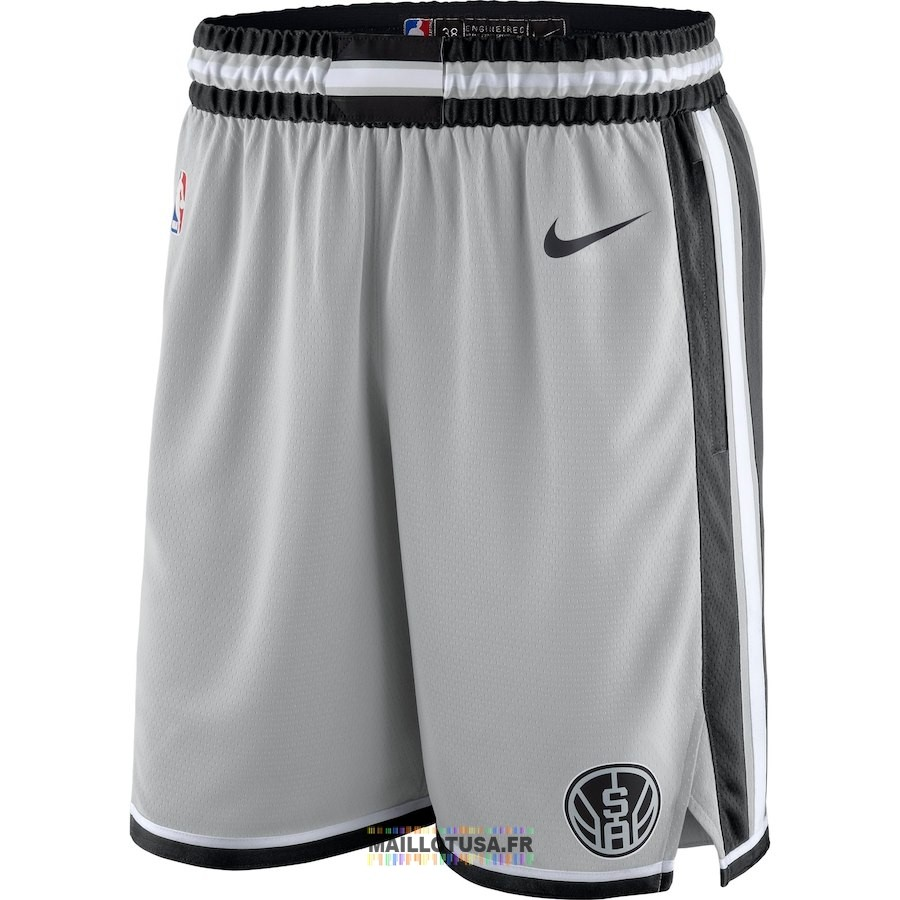 Short Basket San Antonio Spurs Nike Gris Statement 2018