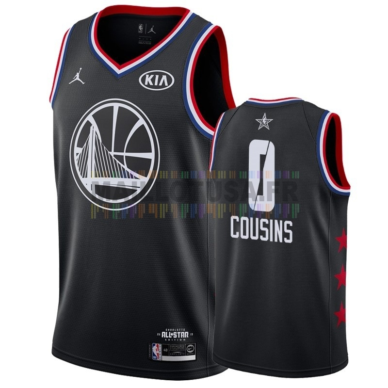 Maillot NBA Pas Cher - Maillot NBA 2019 All Star NO.0 DeMarcus Cousins Noir