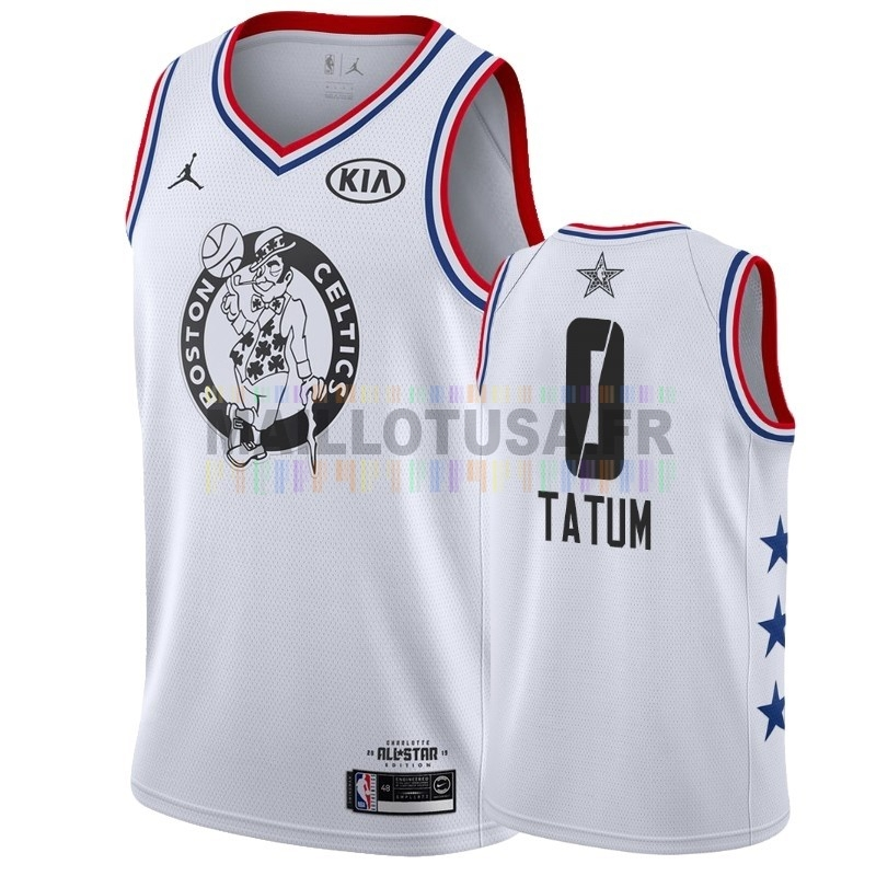 Maillot NBA Pas Cher - Maillot NBA 2019 All Star NO.0 Jayson Tatum Blanc