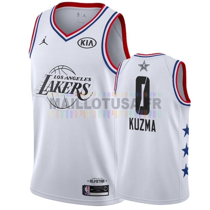 Maillot NBA Pas Cher - Maillot NBA 2019 All Star NO.0 Kyle Kuzma Blanc