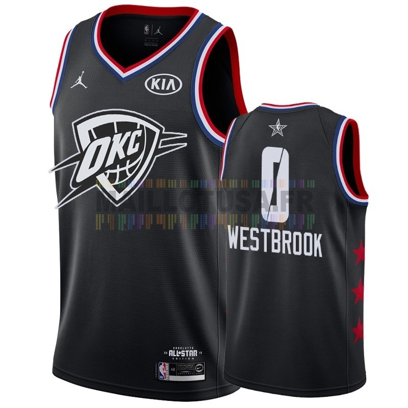 Maillot NBA Pas Cher - Maillot NBA 2019 All Star NO.0 Russell Westbrook Noir