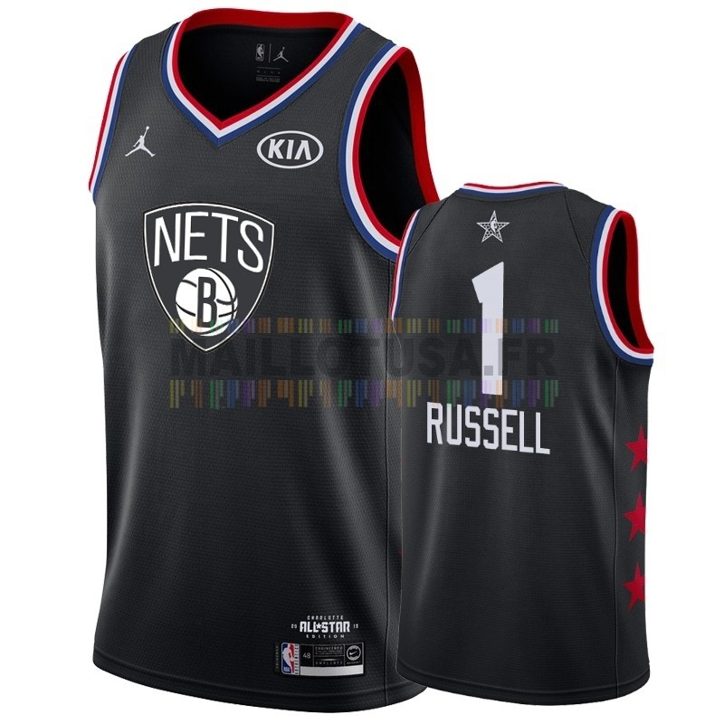 Maillot NBA Pas Cher - Maillot NBA 2019 All Star NO.1 DAngelo Russell Noir
