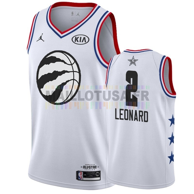 Maillot NBA Pas Cher - Maillot NBA 2019 All Star NO.2 Kawhi Leonard Blanc