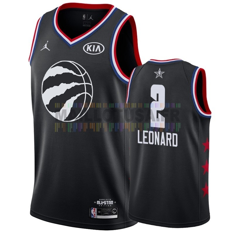 Maillot NBA Pas Cher - Maillot NBA 2019 All Star NO.2 Kawhi Leonard Noir