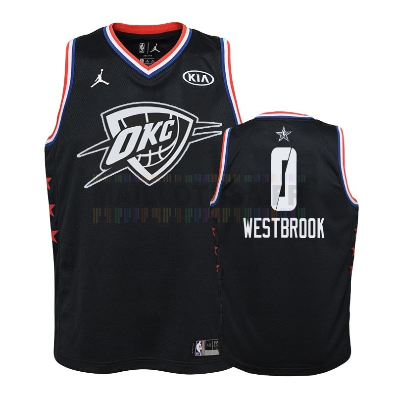 Maillot NBA Pas Cher - Maillot NBA Enfant 2019 All Star NO.0 Russell Westbrook Noir