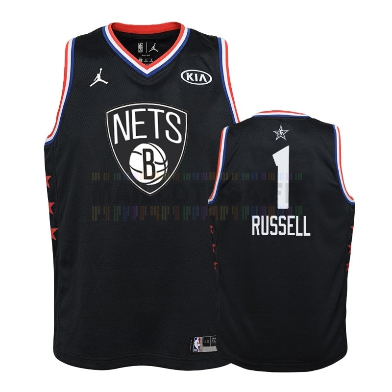 Maillot NBA Pas Cher - Maillot NBA Enfant 2019 All Star NO.1 D'Angelo Russell Noir
