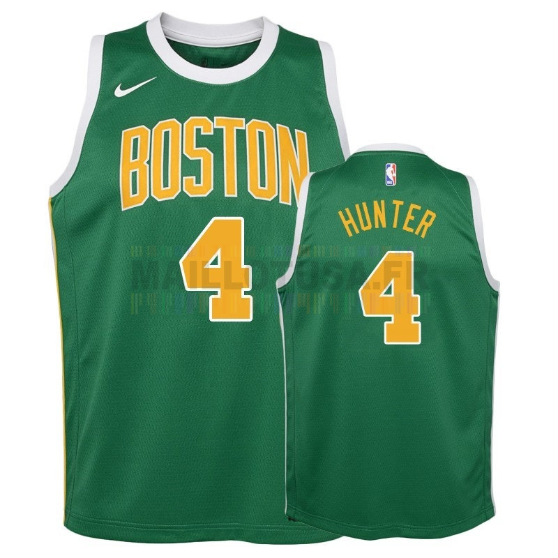 Maillot NBA Pas Cher - Maillot NBA Enfant Earned Edition Boston Celtics NO.4 R.J. Hunter Vert 2018-19