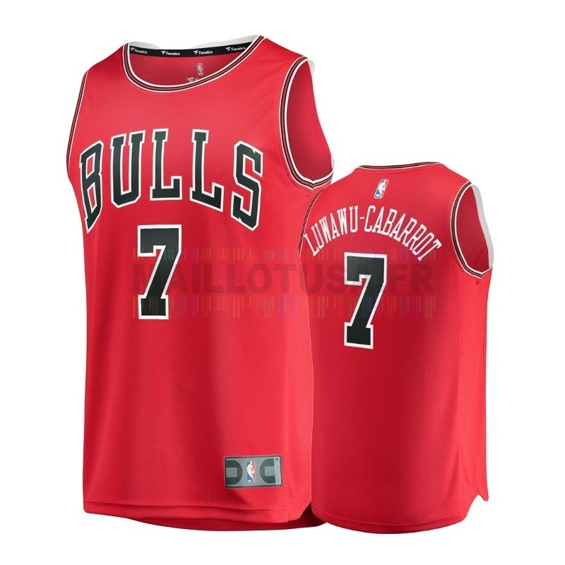 Maillot NBA Enfant Chicago Bulls NO.7 Timothe Luwawu Cabarrot Rouge Icon