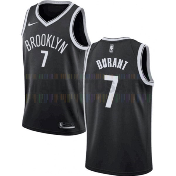 Maillot NBA Enfant Brooklyn Nets NO.7 Kevin Durant Noir Icon 2019-20