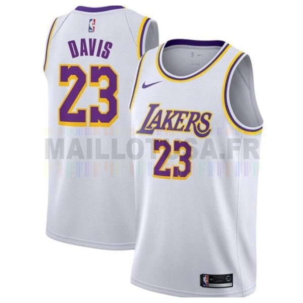 Maillot NBA Nike Los Angeles Lakers NO.23 Anthony Davis Blanc Association 2019-20