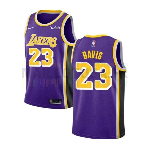 Maillot NBA Nike Los Angeles Lakers NO.23 Anthony Davis Purpura 2019-20
