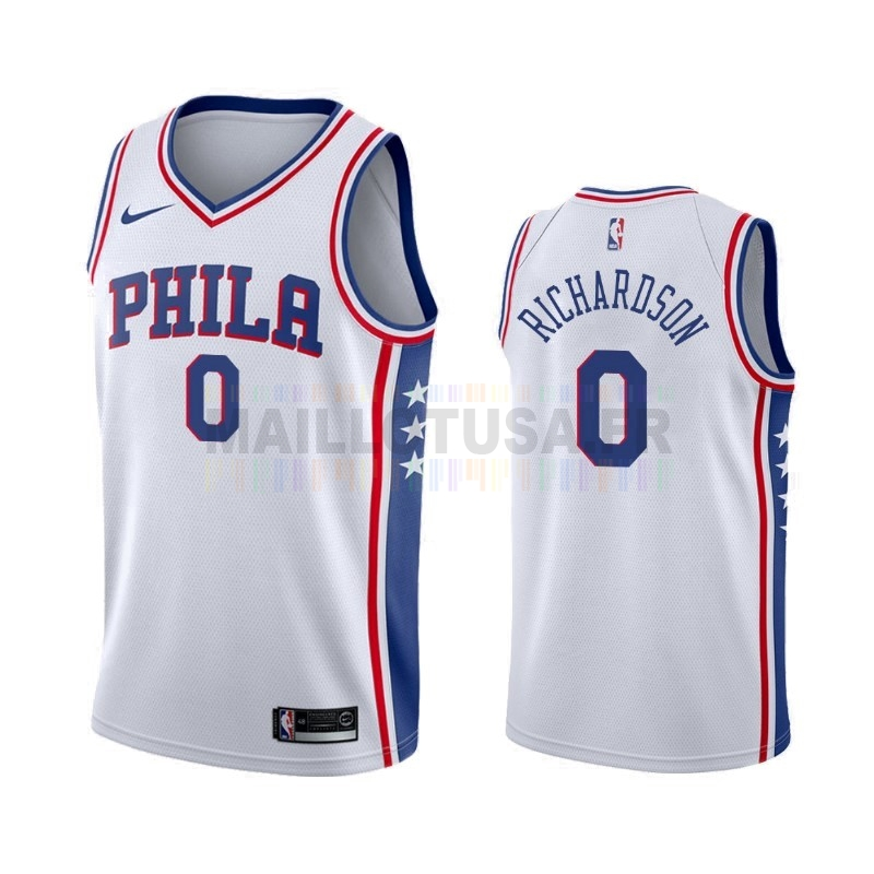 Maillot NBA Nike Philadelphia Sixers NO.0 Josh Richardson Blanc Association 2019-20