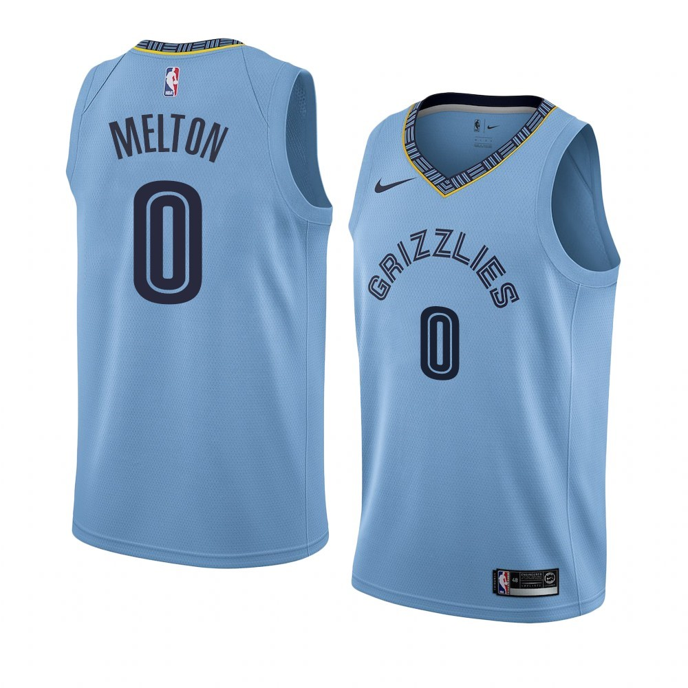 Maillot NBA Nike Menphis Grizzlies NO.0 De'Anthony Melton Bleu Statement 2019-20
