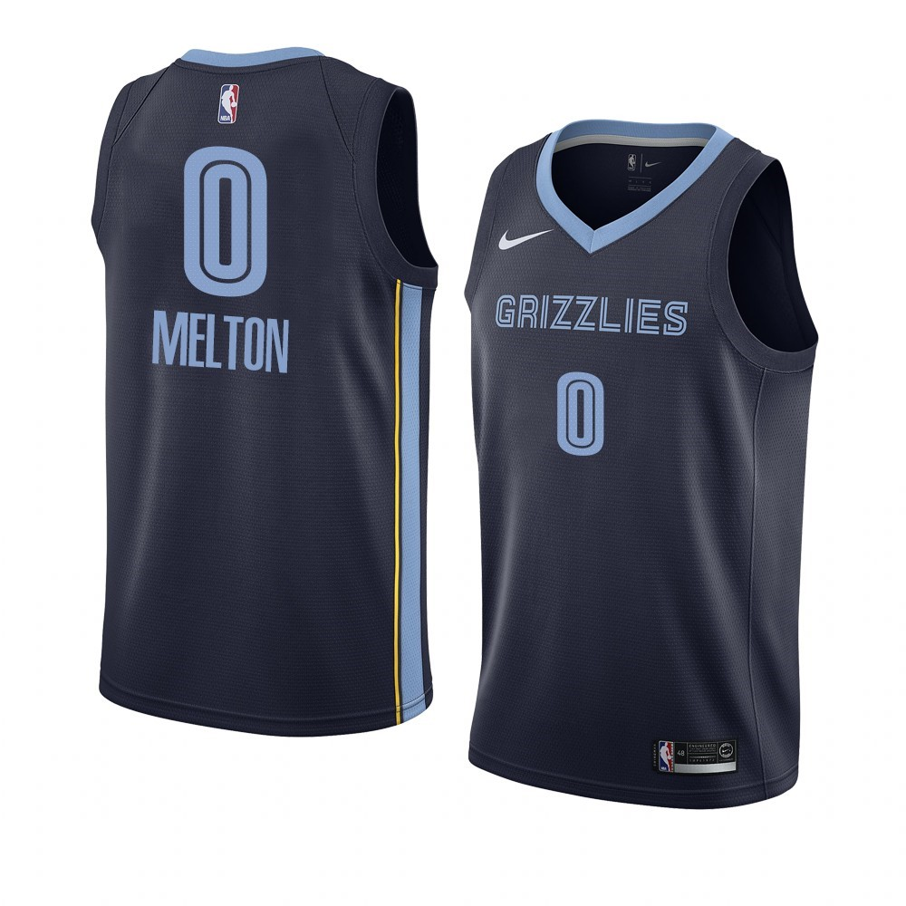 Maillot NBA Nike Menphis Grizzlies NO.0 De'Anthony Melton Marine Icon 2019-20