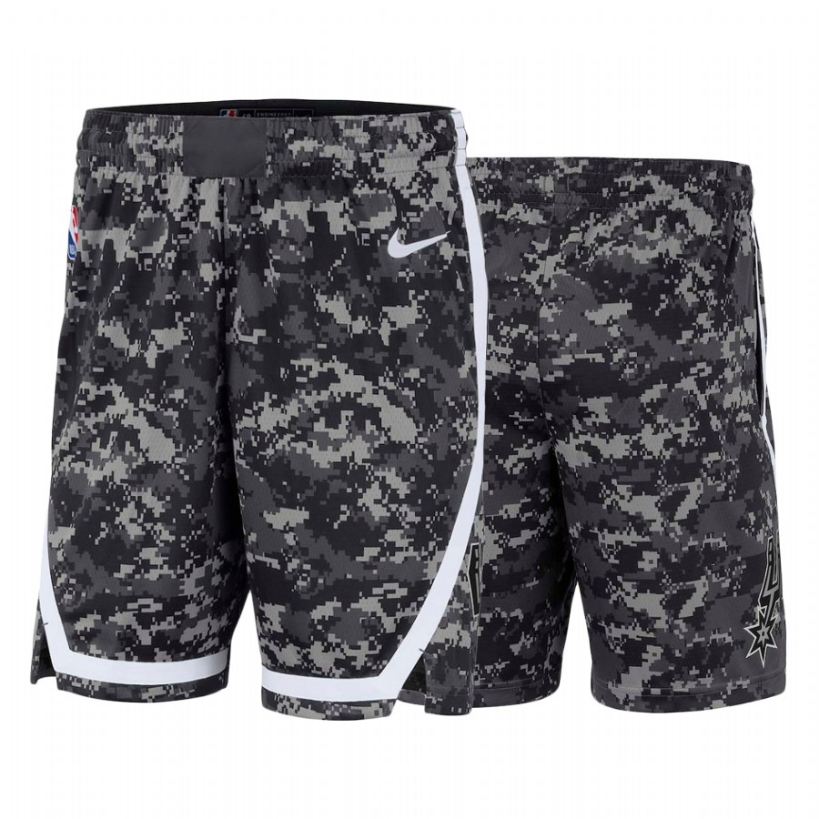 Short Basket San Antonio Spurs Nike Noir