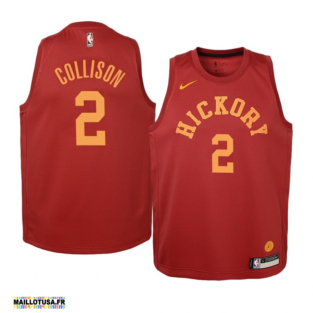 Maillot NBA Pas Cher - Maillot NBA Enfant Indiana Pacers NO.2 Darren Collison Nike Retro Bordeaux