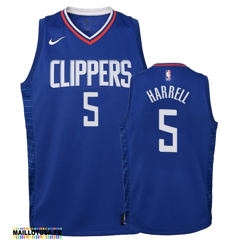 Maillot NBA Pas Cher - Maillot NBA Enfant Los Angeles Clippers NO.5 Montrezl Harrell Bleu Icon 2019-20
