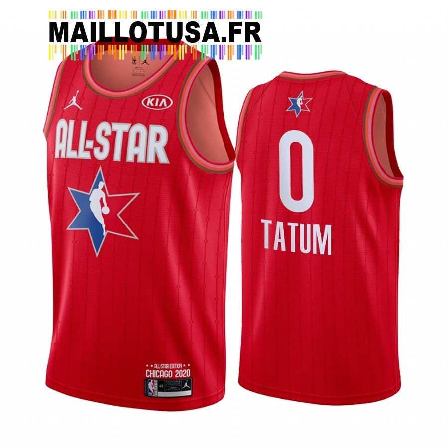 Maillot NBA 2020 All Star NO.0 Jayson Tatum Rouge