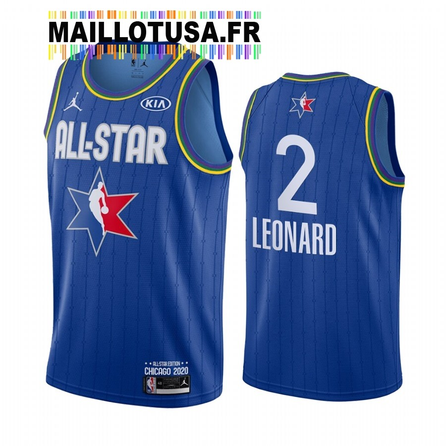 Maillot NBA 2020 All Star NO.2 Kawhi Leonard Bleu