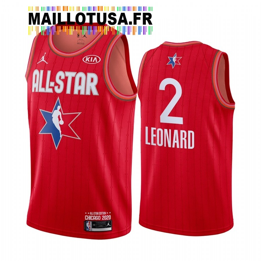 Maillot NBA 2020 All Star NO.2 Kawhi Leonard Rouge