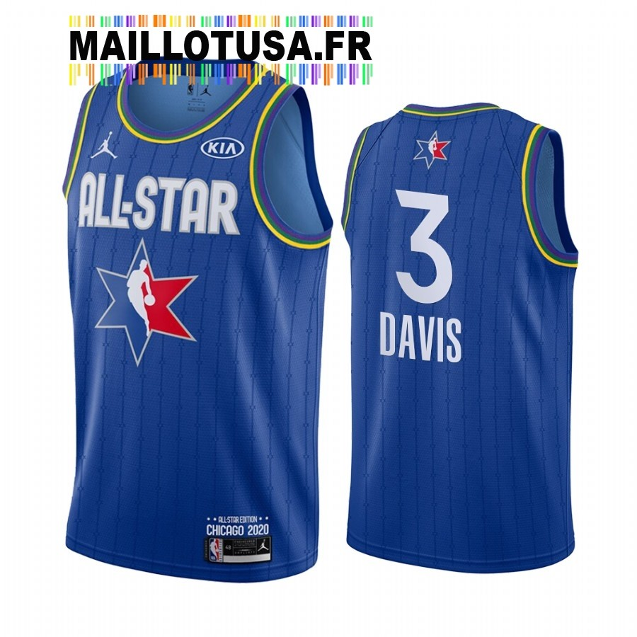 Maillot NBA 2020 All Star NO.3 Anthony Davis Bleu