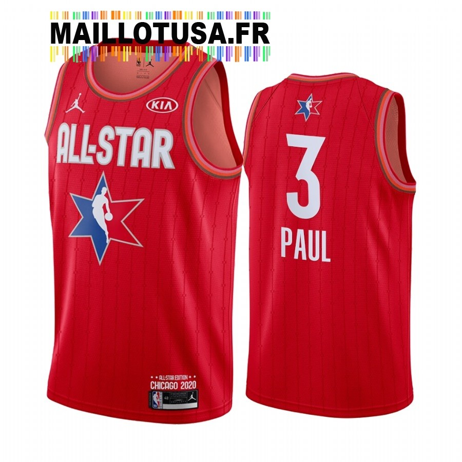 Maillot NBA 2020 All Star NO.3 Chris Paul Rouge