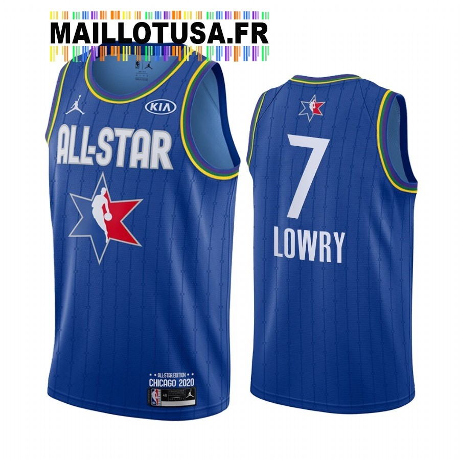 Maillot NBA 2020 All Star NO.7 Kyle Lowry Bleu