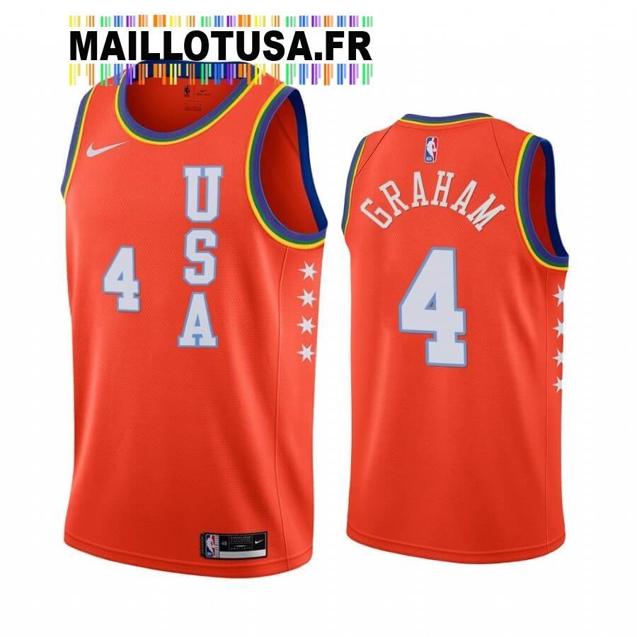Maillot NBA 2020 Rising Star NO.4 Devonte Graham Orange