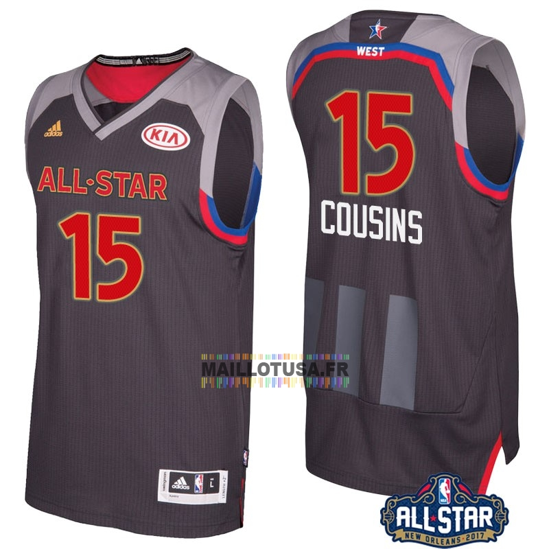 Maillot NBA Pas Cher - Maillot NBA 2017 All Star NO.15 Demarcus Cousins Charbon