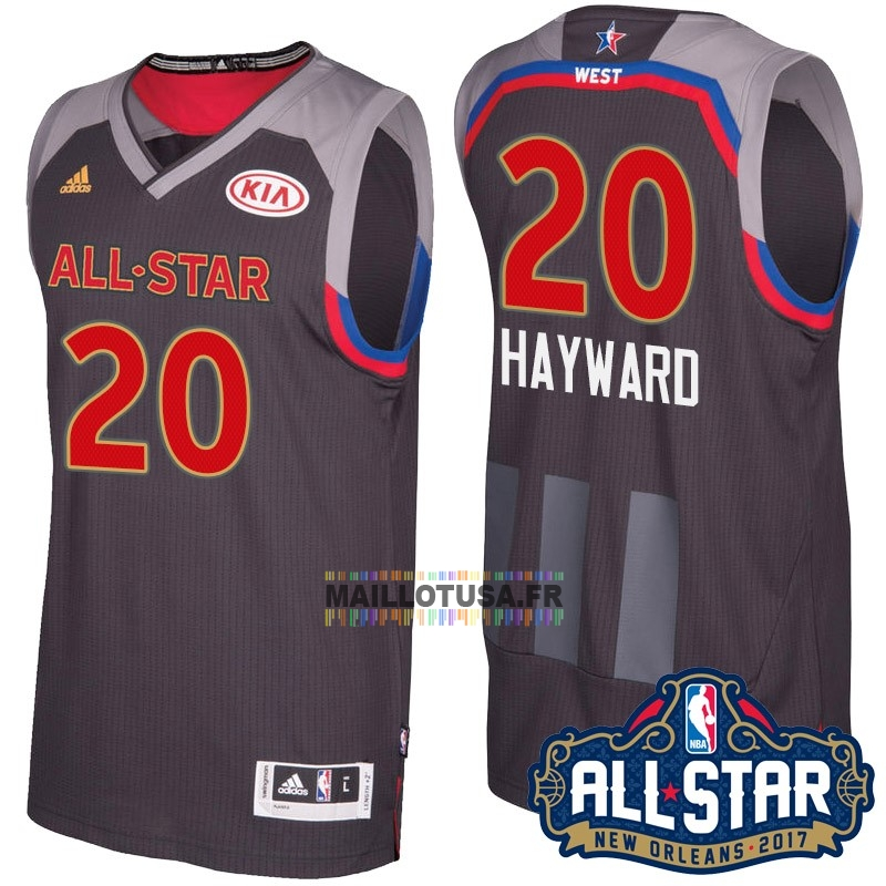 Maillot NBA Pas Cher - Maillot NBA 2017 All Star NO.20 Gordon Hayward Charbon