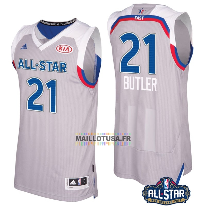 Maillot NBA Pas Cher - Maillot NBA 2017 All Star NO.21 Jimmy Butler Gray