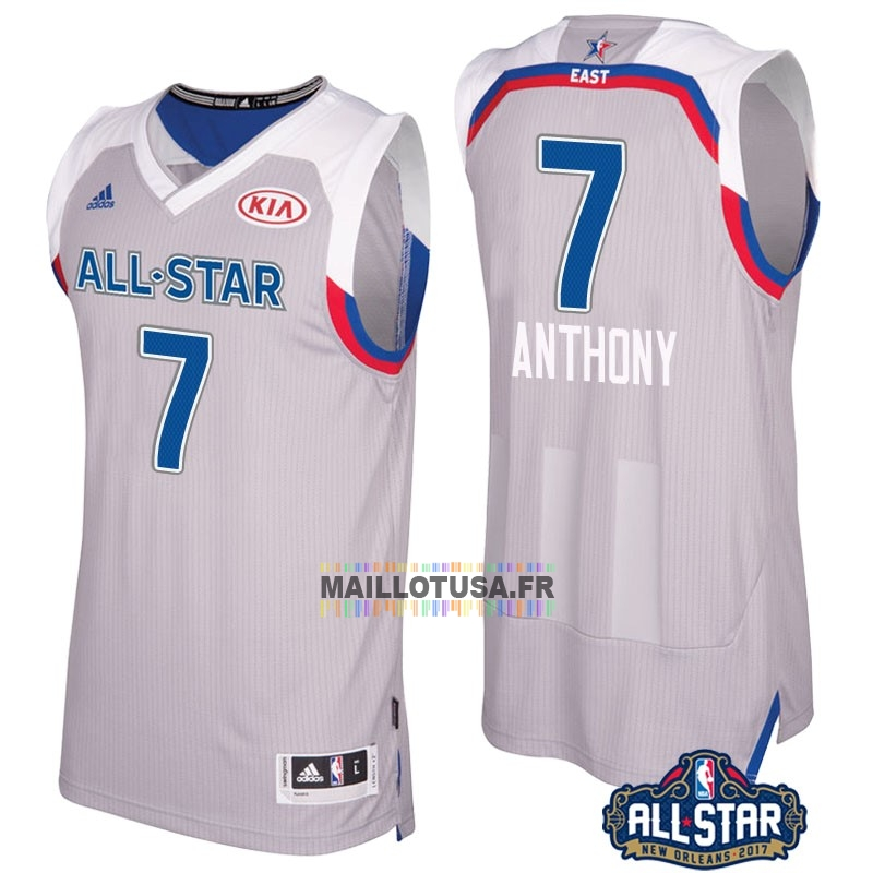 Maillot NBA Pas Cher - Maillot NBA 2017 All Star NO.7 Carmelo Anthony Gray