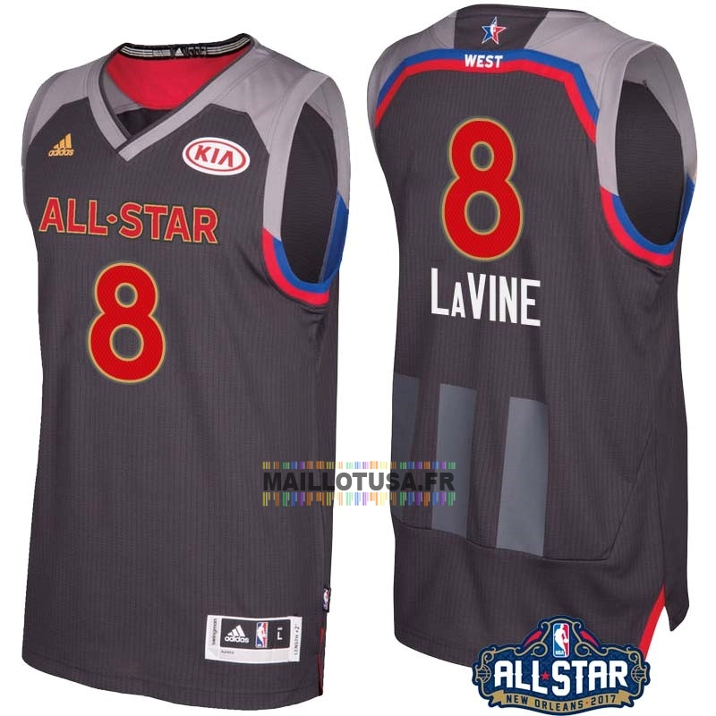 Maillot NBA Pas Cher - Maillot NBA 2017 All Star NO.8 Zach Lavine Charbon