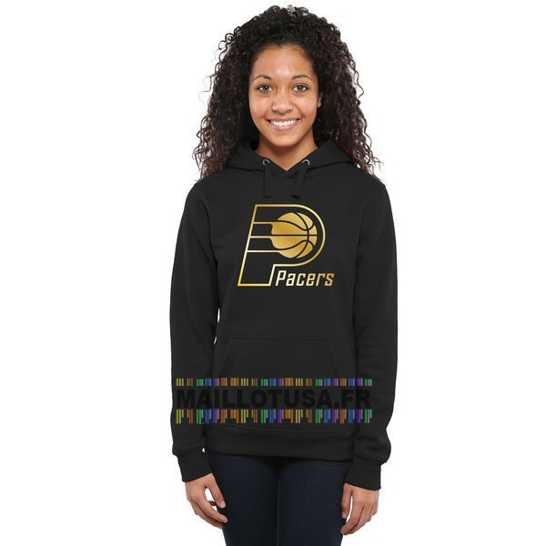 Maillot NBA Pas Cher - Hoodies NBA Femme Indiana Pacers Noir Or