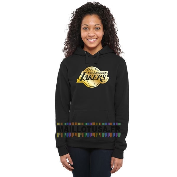 Maillot NBA Pas Cher - Hoodies NBA Femme Los Angeles Lakers Noir Or