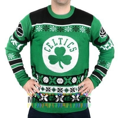 Maillot NBA Pas Cher - Unisex Ugly Sweater Boston Celtics Vert