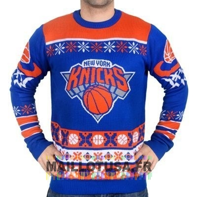 Maillot NBA Pas Cher - Unisex Ugly Sweater New York Knicks Bleu