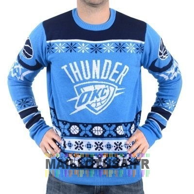 Maillot NBA Pas Cher - Unisex Ugly Sweater Oklahoma City Thunder Bleu