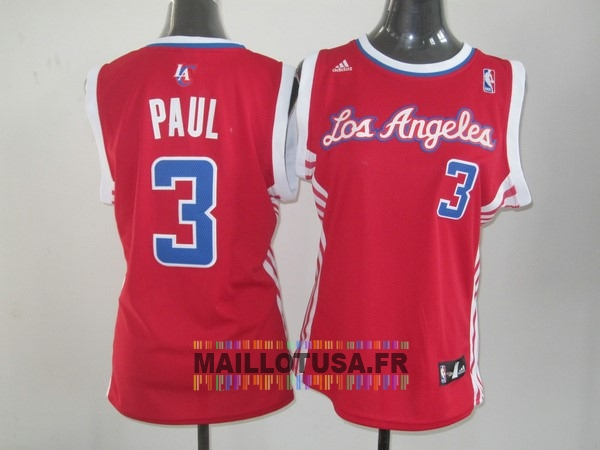 Maillot NBA Pas Cher - Maillot NBA Femme Los Angeles Clippers NO.3 Chris Paul Rouge