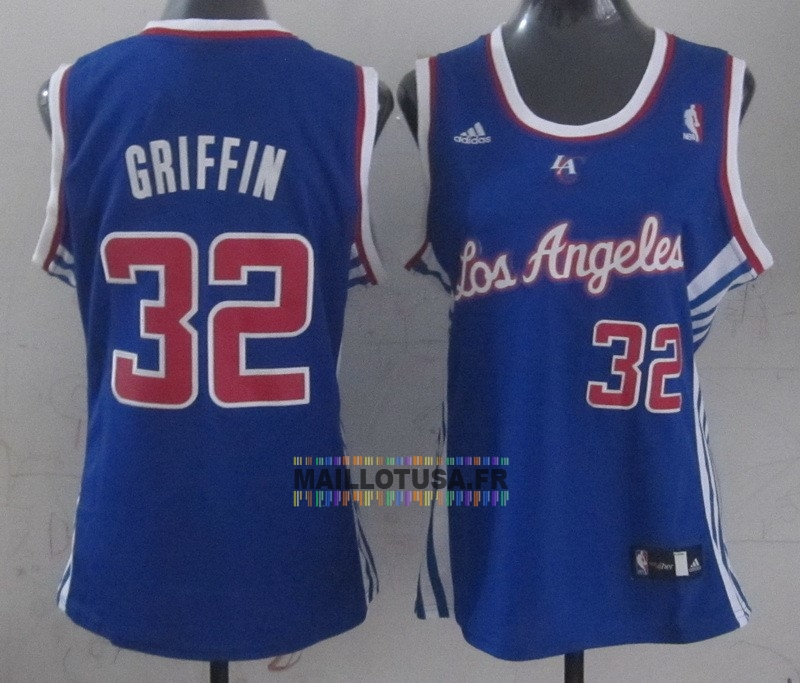 Maillot NBA Pas Cher - Maillot NBA Femme Los Angeles Clippers NO.32 Blake Griffin Bleu