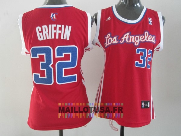 Maillot NBA Pas Cher - Maillot NBA Femme Los Angeles Clippers NO.32 Blake Griffin Rouge