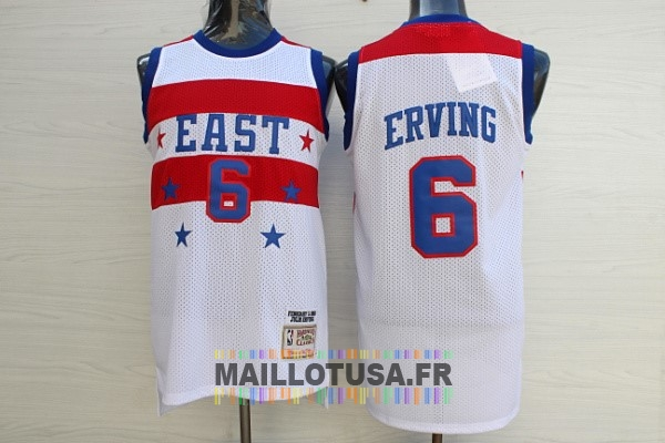Maillot NBA Pas Cher - Maillot NBA 1980 All Star NO.23 Julius Winfield Erving Blanc
